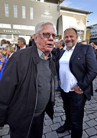 <p>SLAKTET RAPPORTEN: Nils Arne Eggen, her sammen med Rosenborg-formann Ivar Koteng, latterliggjorde rapporten til Norsk Toppfotball da den ble presentert.</p><p/>