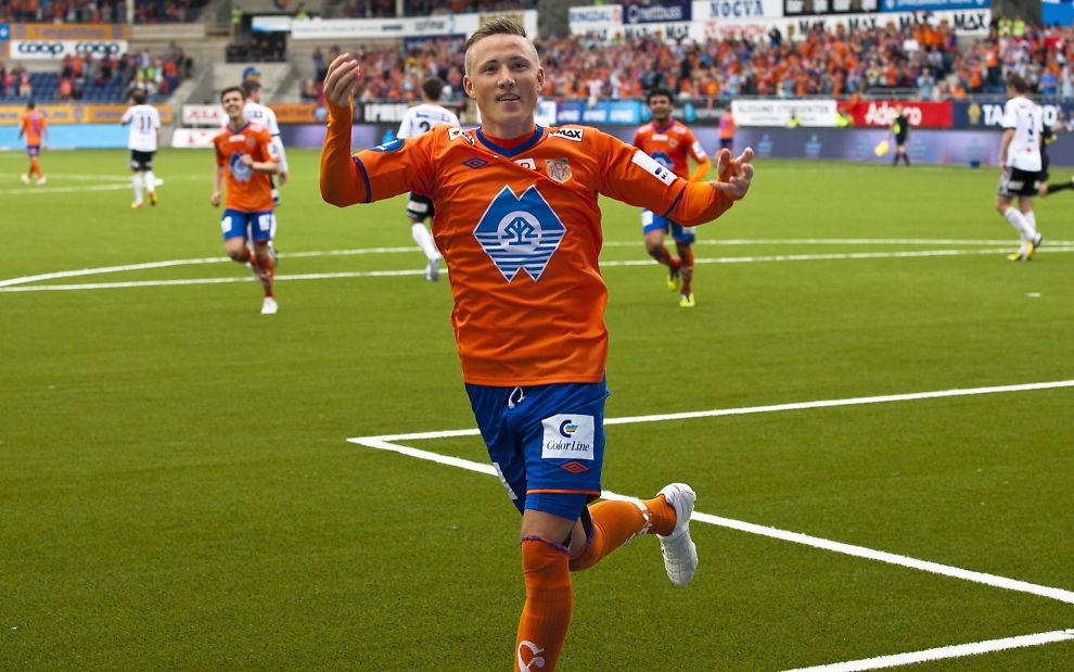 <p>PÅ VEI VEKK: Fredrik Ulvestad har antakelig spilt sin siste kamp i Aalesund-drakten.<br/></p>