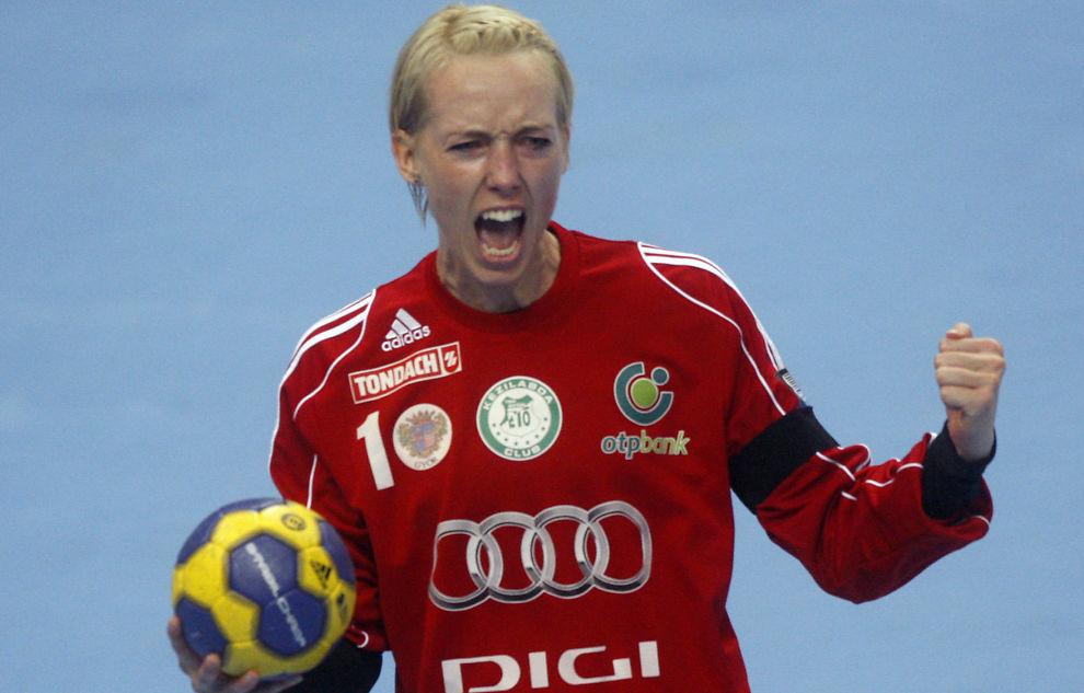 <p>SISTE SKRIK: Katrine Lunde dominerte Champions League-finalen mot Buducnost 5. mai i fjor. Det ble hennes siste kamp for Györ.<br/></p>