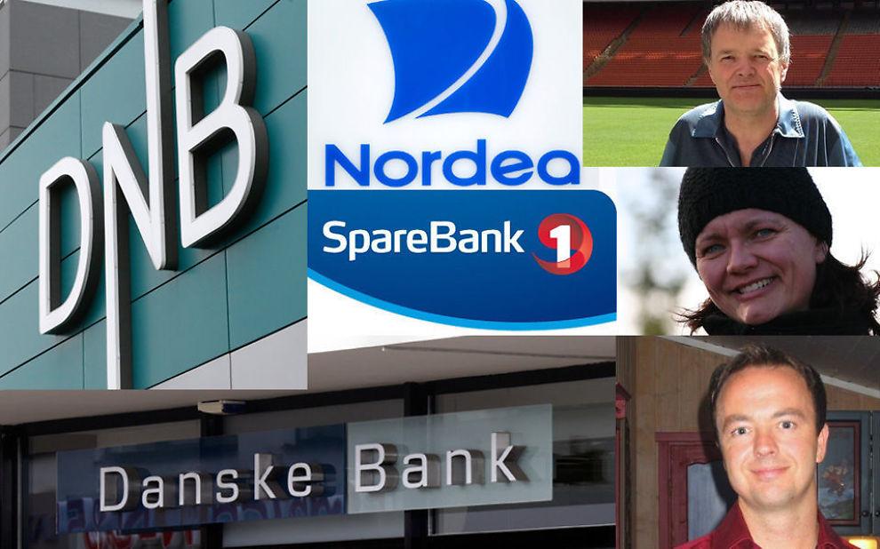 <p>LER HELE VEIEN TIL BANKEN: Norges største banker har gode marginer. Lars Otto Grindheim, Lene Braaten Kildal og Thorstein Pehrsson ble belønnet med lavere rente da de kontaktet sine banker.<br/></p><p><br/></p>