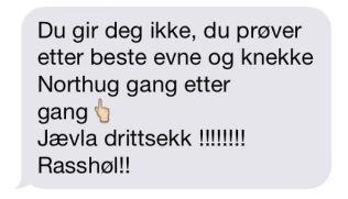 <p>FIKK SMS: Denne tekstmeldingen fikk landslagssjef Vidar Løfshus nylig.<br/></p>