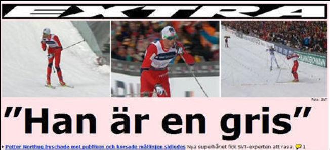 Faksimile: Aftonbladet etter VM-stafetten i 2011.