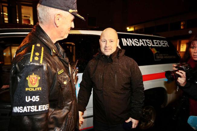 KUTTER DISTRIKT: Justisminister Anders Anundsen, her på tur med en patrulje fra Oslo politidistrikt.
