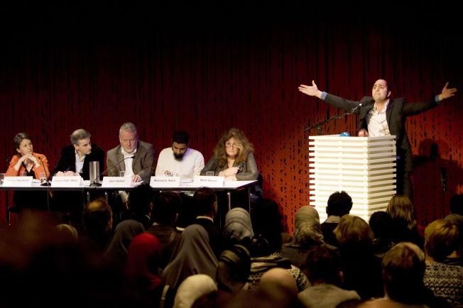 <p>PROVOSERTE: Under dialogmøtet i 2009 holdt Ali Chishti talen «Hvorfor jeg hater jøder og homofile». I dag tar han avstand fra sitt hat, men innrømmer at han fremdeles misliker de som støtter Israel.<br/></p>