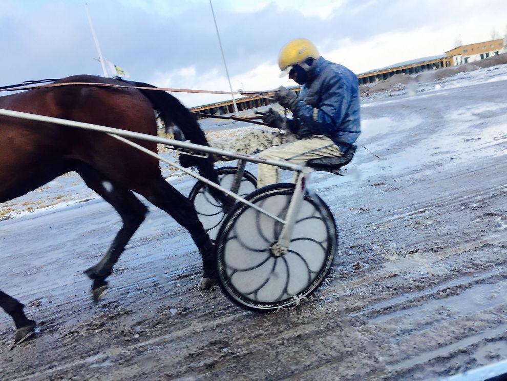 <p>UTESTENGT PÅ LIVSTID: Dette bildet fra februar skal vise at Atle Hamre ikke bryr seg om livstidsutestengelsen fra Det Norske Travselskap.<br/></p>