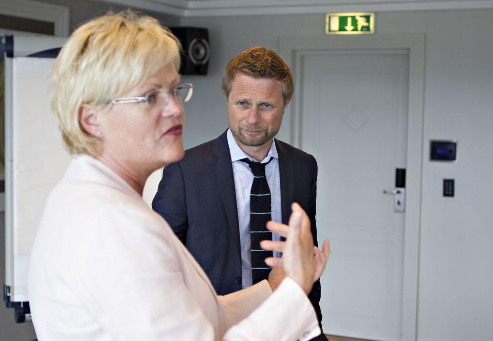 <p>LIBERALISERING: Bioteknologirådets leder Kristin Halvorsen og helseminister Bent Høie.<br/></p>