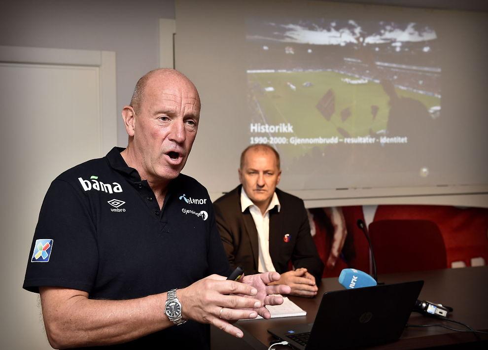 <p><b>SELVGODHET:</b> – Sett at vi istedet for Nils Johan Semb (bildet) fikk inn en toppfotballsjef fra Tyskland, Nederland, Italia eller en annen stor fotballkultur. Hvorfor er det utenkelig i Norge, spør forfatter og forlegger Aslak Nore.<br/></p>