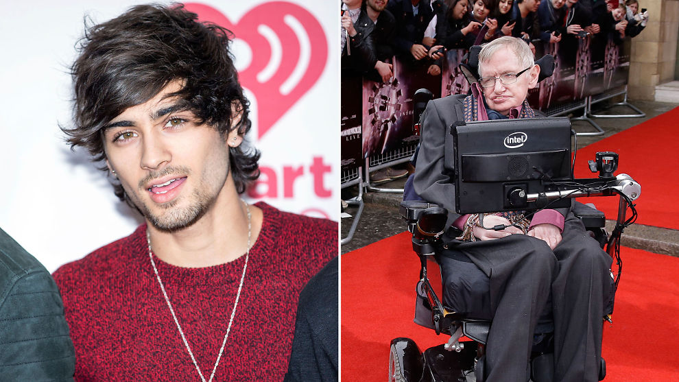 <p>I ET ANNET UNIVERS: Stephen Hawkin utelukker ikke muligheten for at ett eller annet sted i universet er Zayn Malik fortsatt med i One Direction.<br/></p>