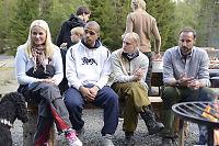 Kronprinsparet på telttur i Vestmarka