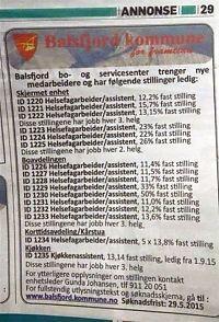 Utlyser 20 deltidsstillinger i  én annonse