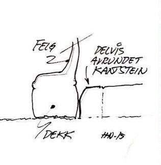 Reparere kantkjørte felger