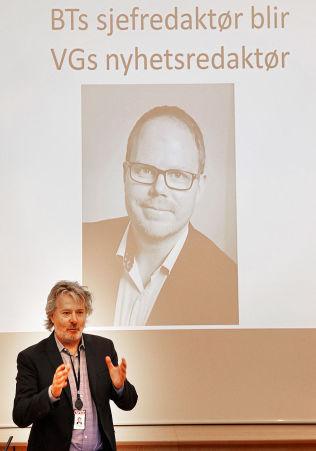NY REDAKTØR:VGs sjefredaktør Torry Pedersen presenterte vår neste nyhetsredaktør.