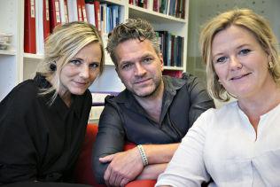 <p>Thea Totland (i svart), Trude Trønnes-Christensen og Fridtjof P. Gundersen.<br/></p>