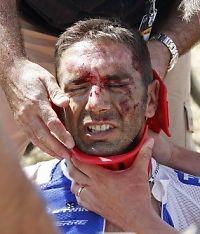 Dramatisk massevelt i Tour de France