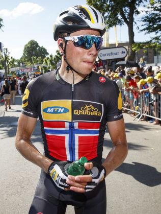 LÅ BAK I FELTET: Edvald Boasson Hagen erkjenner at han ikke ville klart å følge de beste opp den siste bakken.