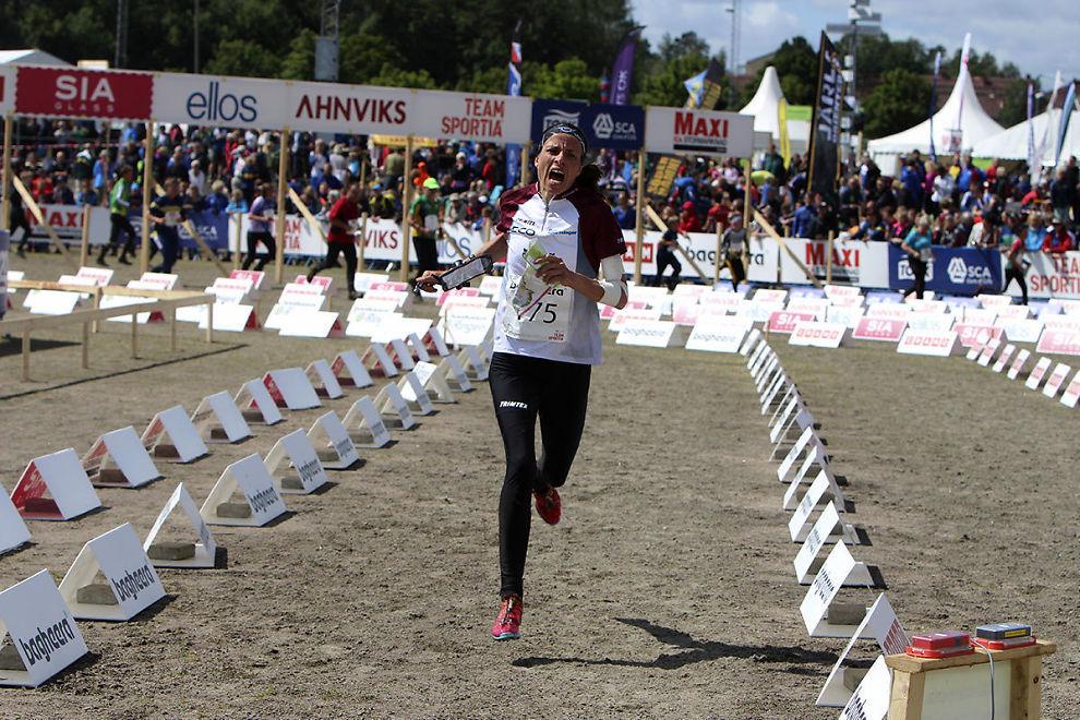 VETERANSEIER: Anne Margrethe Hausken Nordberg sto igjen som seierskvinne i eliteklassen på etappeløpet O-ringen i Sverige. Dette er første seier i O-ringen siden hun vant løpet i 2008.