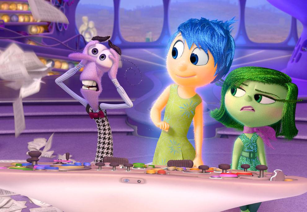 <p>FRYKT OG AVSKY: Med Glede i midten i Pixars «Innsiden ut».<br/></p>