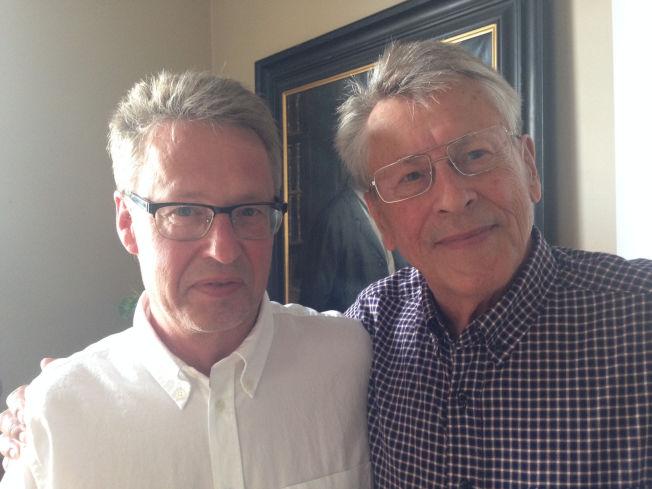 <p>IKKE LETT AVGJØRELSE: Stieg Larssons bror og far, Joakim og Erland Larsson sier til VG at de holdt igjen i flere år før de sa ja til en fjerde bok.</p>