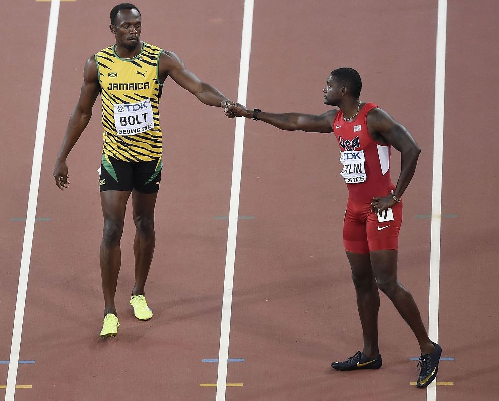 <p>REVANSJ: Usain Bolt (29) har vunnet tre VM-finaler på rad på 200-meteren. Justin Gatlin (33) er ute etter revansj for nederlaget - med en hundredel - på 100-meteren sist søndag. VM-finalen på 200 meter i Beijing starter 14.55 norsk tid.</p>