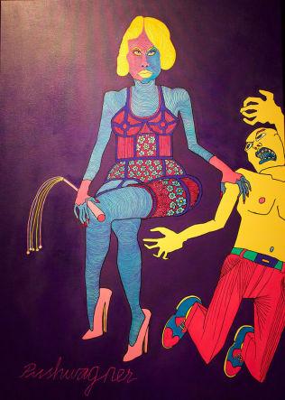 <p>NYTT MALERI: Pushwagners maleri «Lady Blue» er nå solgt for 600 000 kroner på Soli Brug Galleri. Foto: SOLI BRUG</p>