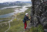 Stupbratt glede i fjellet