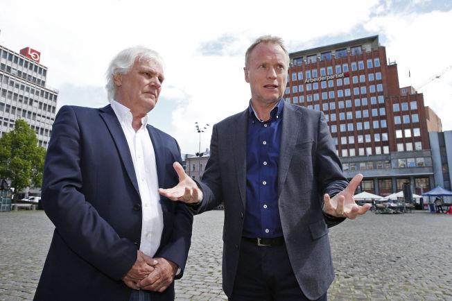 <p>STOR TILTRO: Frode Kyvåg fikk over 4000 personstemmer fra osloborgerne, og er dermed sikret en plass i Oslo bystyre. Her sammen med Aps byrådslederkandidat Raymond Johansen.<br/></p>
