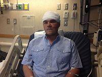 Chase (26) stakk armen ned i halsen på grizzlybjørn