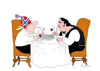 Norge - Italia: Blått til lyst