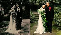Ektepar (98) gjenskaper bryllupsbildet etter 70 år