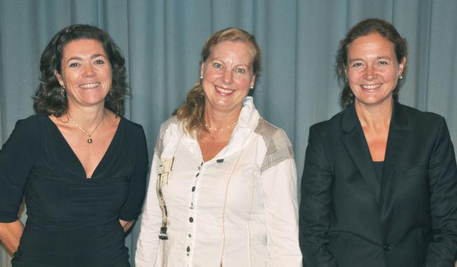 <p>HØRTE INGENTING: Kristin Skogen Lund, Berit Svendsen og Hilde Tonne sammen på et bilde fra 2011.<br/></p>