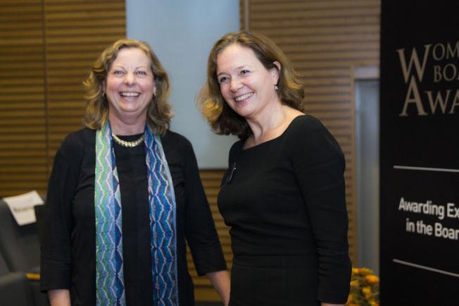 <p>IKKE GODE NOK: Berit Svendsen og Hilde Tonne, her fra utdelingen av den prestisjefylte prisutdelingen «Women's Board Award»i Oslo i mars i år, hvor Hilde Tonne ble kåret til «Årets kivnnelige styremedlem» for 2014.</p>