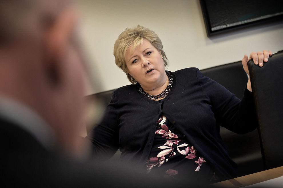 <p>ARBEID MOT FISK:- Arbeid og omstilling er viktig for oss. Frp har jo fått noen store departementer i regjeringssamarbeidet, og de har hatt veldig flinke statsråder. Men vi hadde flere statsråder, og nå får de en til. Da var det naturlig at vi byttet litt i tyngdepunktet, i forhold til enkeltposter. Frp fikk fisk, og vi fikk arbeid, sier statsministeren, sier statsminister Erna Solberg i dette VG-intervjuet</p>