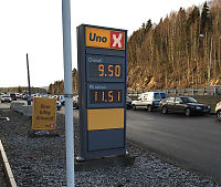 Diesel til under en tier for literen