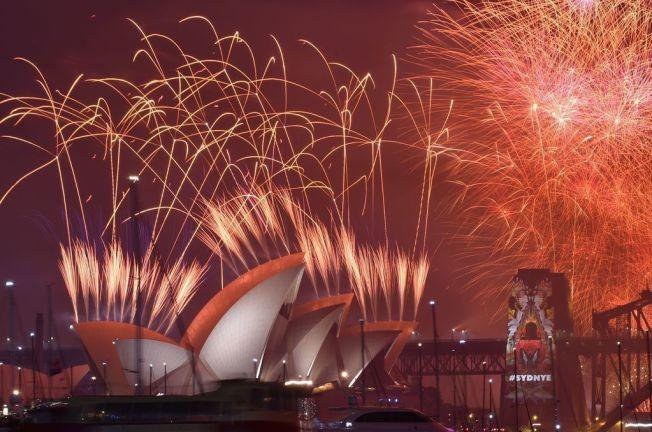 <p>VAKKERT: Sydney er kjent for sitt spektakulære fyrverkerishow når nyttårsaften skal feires.<br/></p>