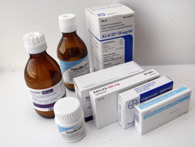 <p>HYPPIG BRUKT: Ulike former for antibiotika, både flytende og i pilleform.</p>