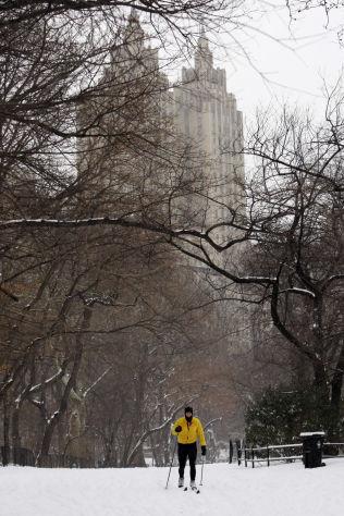 SNØ- OG SKYSKRAPERE: Central Park i New York. Her kan det bli verdenscuprenn i langrenn om FIS-sjefen får det som han vil.