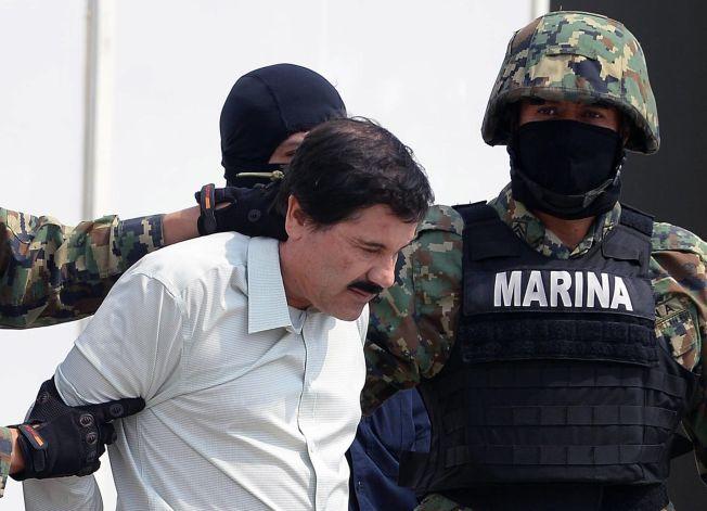<p>TATT I 2014: «El Chapo» avbildet etter at han ble pågrepet i Mexico City i februar for to år siden.<br/></p>