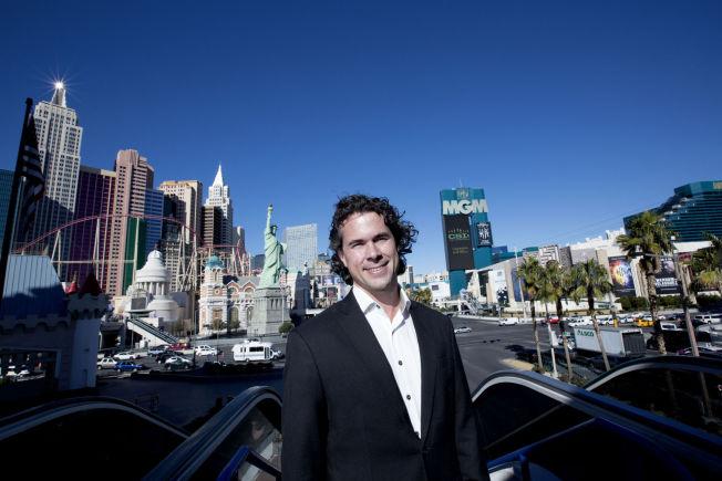 <p>I VEGAS: André Eidskrem forsøker å få titalls millioner for domenet by.com, som han kjøpte i 1996.</p>
