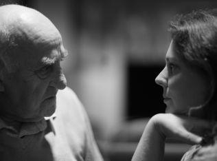 <p> Joralf Gjerstad og regissør Margreth Olin .</p>
