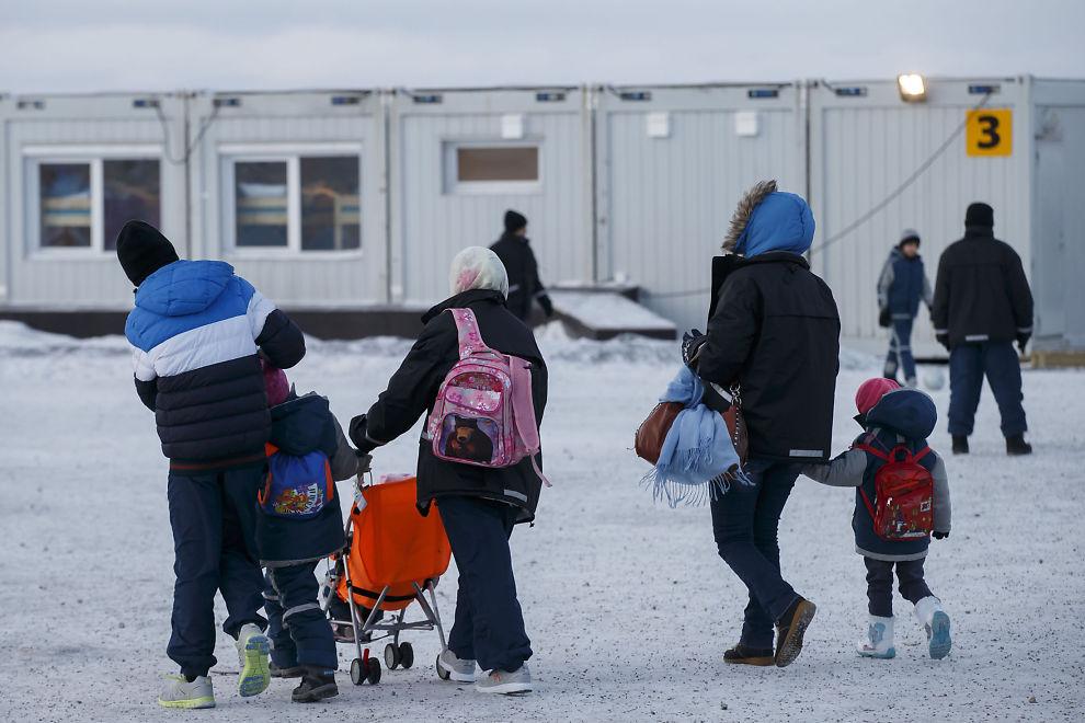 <p>KIRKENES: Asylsøkere i ankomstsenteret for flyktninger i Kirkenes.</p>
