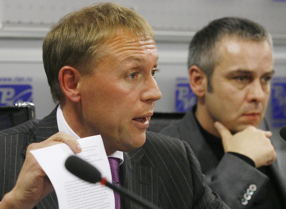 <p>MISTENKT: Hvem var det som ga Litvinenko den dødelige dosen? Ifølge en rapport var det de tidligere KGB-agentene Andrej Lugovoj og Dmitrij Kovtun. Selv nekter de for å ha noe med drapet å gjøre.</p>
