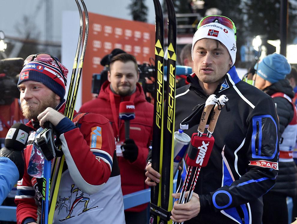 <p>UNNGÅR HVERANDRE: Martin Johnsrud Sundby og Petter Northug kommer ikke til å se hverandre under NM i Tromsø. Her fra årets Tour de Ski.</p>