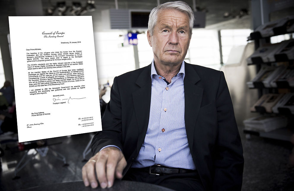 <p>SKRIVER BREV: Thorbjørn Jagland tilbyr Norge Europarådets ekspertise i flyktningrett. Tilbudet gjelder alle medlemslandene, men kun Norge har fått et slikt brev.</p>