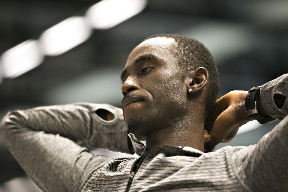 <p>TILTALT: Sprinteren Jaysuma Saidy Ndure nekter straffskyld for voldstiltalen, som nå behandles av Nedre Romerike tingrett. Han har ikke ønsket å la seg avbilde i retten, noen han kan nekte etter loven. Bildet er tatt under trening før helgen.</p>