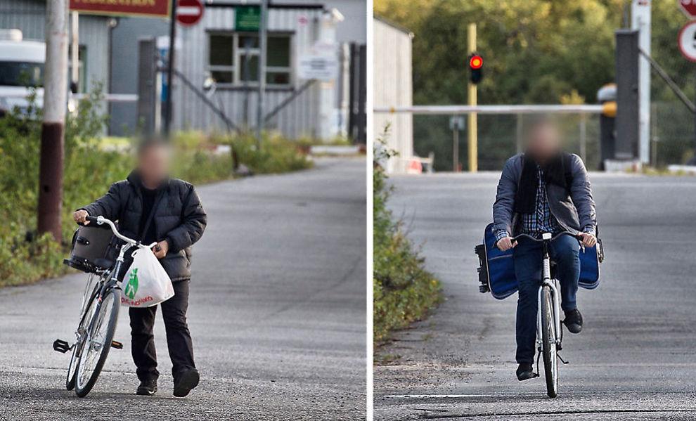 FÅ: I starten var det ikke mange som kom syklende over Storskog. Bildet er fra begynnelsen av september. Foto: MATTIS SANDBLAD
