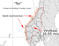 Norge forbereder seg på ekstremværet «Tor»