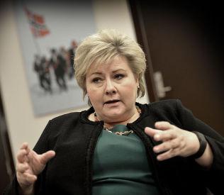 <p>SCORER BEST: Statsminister Erna Solberg (H).</p>