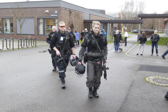 <p>EVAKUERT: Porsgrunn skole ble evakuert etter trusler.<br/></p>