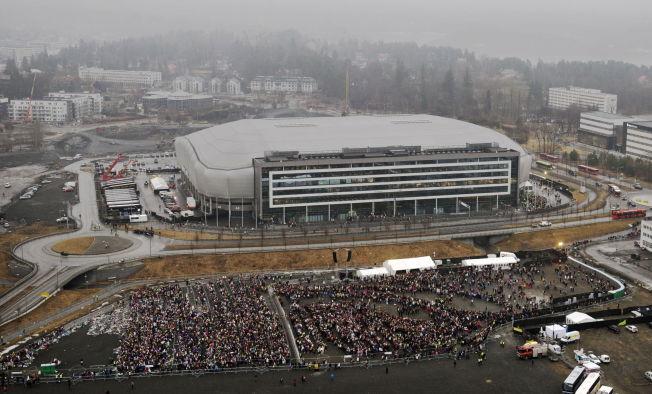 <p>BIEBER-KAOS: Slik så det ut utenfor Telenor Arena sist Justin Bieber var på besøk.<br/></p>