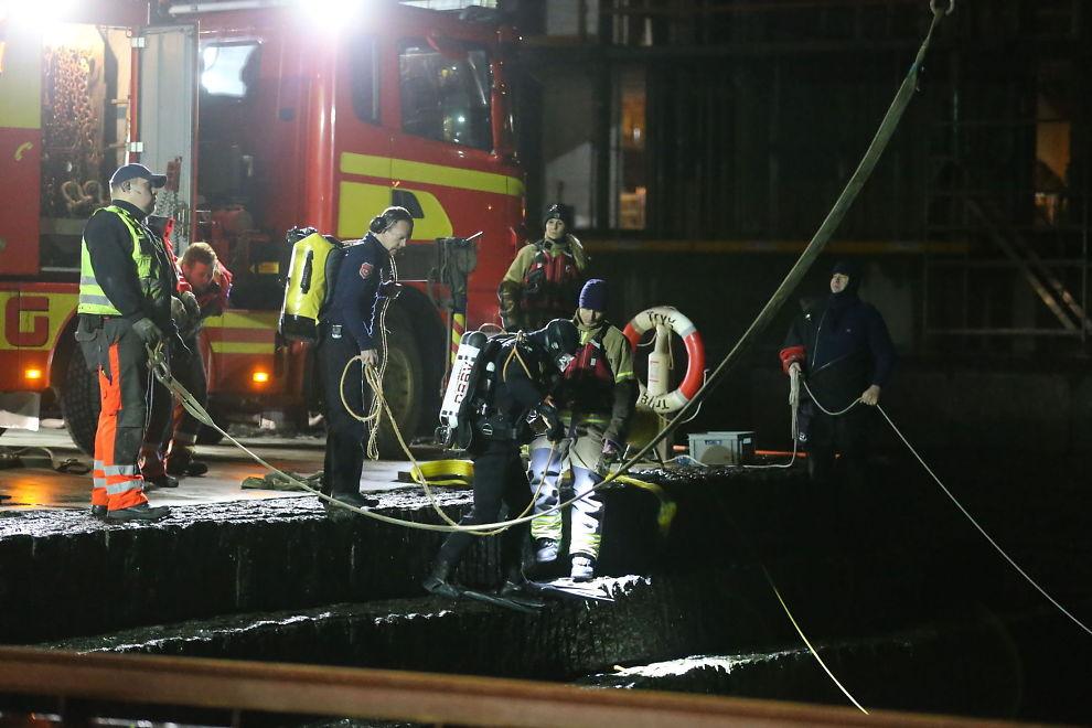 <p>RYKKET UT: Dykkere fra Drammen var natt til lørdag på plass i Larvik for å bistå i søket etter personer i vannet.</p>